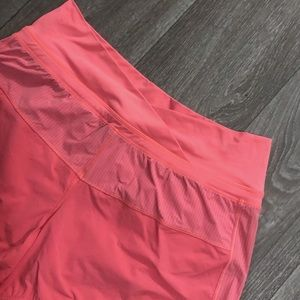 LULULEMON Coral Pink Astro Workout Running Shorts
